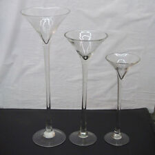 "Tall Martini Glass Vase Wedding Table Centerpiece, 16"" 20"" 23"" Clear"