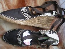 REBAJAS sandalias zapatillas cuña espardiñas marron mujer talla nº 41 nuevo