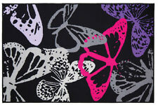 Butterfly Rug in Black - 100 x 160 cm