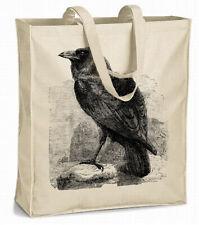 rabe krähe crow XL-shopper aus schwerem Leinenstoff