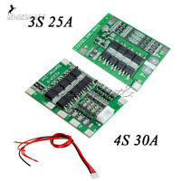 25A/30A 3S/4S BMS PCB Protection Board for 18650 Li-ion Lithium Battery Cell