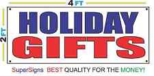 2x4 HOLIDAY GIFTS Banner Sign Red White & Blue NEW Discount Size & Price