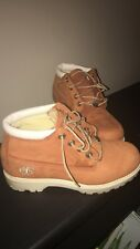 Dark Rust and Cream Womens Ankle TImberlands Size 7