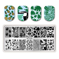 BORN PRETTY Nail Stamping Template Summer Fruit Leaf Crane Nail Art Image Plates