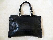 Chic minimalismo! 2.380 £! Ltd Edition Roberta di Camerino borsa a mano in pelle rettile