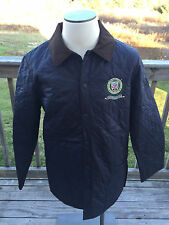 NWT Barbour Liddesdale Polo Club Regimental Men Large (42-44) Navy Quilt Jacket