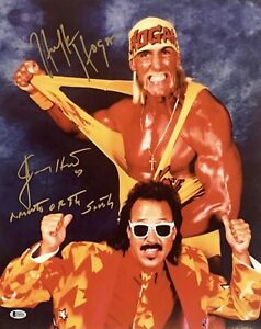 "Hulk Hogan & Jimmy Hart Signed 16x20 Photo *Wrestling ""Mouth Of The South"" BAS"