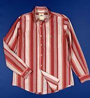 Murphy nye camicia uomo usato XL cotone a righe rossa shirts man used T6020