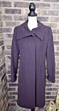 Hilary Radley Women's Long Jacket Wool & Cashmere Coat Purple Size 8 retail $400