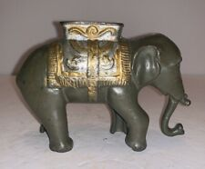 New ListingSmall Cast Iron Elephant Swings Trunk Semi-Mechanical Bank