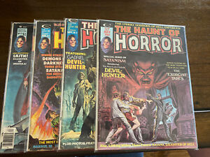 1974 The Haunt Of Horror Magazine Comic Issues 2,3,5,12.