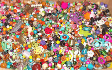 ✿Große Perlenmischung Perlenmix bunt 500g 1/2kg Edelsteine Glas Holz Metall etc✿