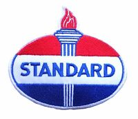 Standard oil patch badge americana sales service station gasoline amoco