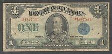 1923 $1.00 DC-25h VG-F SCARCE Dominion of Canada BLUE Seal King George V Dollar