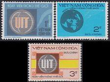 VIETNAM du SUD N°458/460* UIT, 1973 South Vietnam Sc#454-456 ITU MH