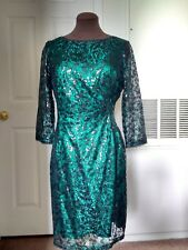Tahari green dress, size 6p, new without tag