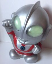 ULTRAMAN MONEY COIN BANK 1980 S importazione VINILE GLOW IN THE DARK gli occhi 12""