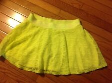 GIRLS JUSTICE NEON FLOWER MESH SKORT SKIRT WITH SHORTS SZ 18 Perfect ATHLETIC
