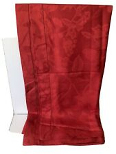 "NEW Red Cotton/Linen TABLECLOTH 62"" Square"