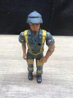 "1986 U.S. Forces HTF Complete 3.75"" Blue Commando Figure Defenders Remco GI Joe"