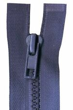 75cm Navy Open End Chunky Zip