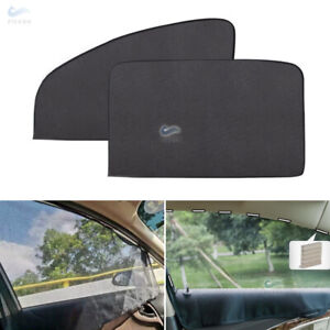 2*Car Side Window Back passenger Sun Shade Visor Anti-UV Cover Sunshade Magnetic