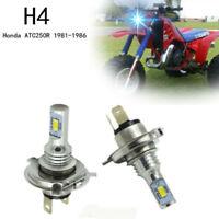 For Honda ATC250R LED 1981-1984 1985 1986 HID Headlight Bulb blue High Power