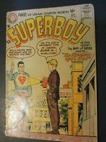 DC Comics Superman w/ Quiz Kid  1957 Vintage Old Comic collection