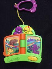 Barney Dinosaur BJ Clip on Musical Talking Book Mattel Toy Green