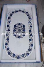4'x2' Marble Coffee Table Top Inlay Lapis Lazuli Pietra Dura Home Decor Art