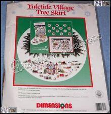 Dimensions YULETIDE VILLAGE TREE SKIRT Xmas Counted Cross Stitch Kit - C Wysocki