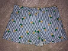 New Look Holiday Shop Pineapple Stripe Shorts Size 12