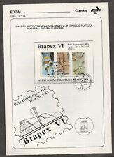 Brazil #2000a, Brazilian Philatelic Exposition 1985, souvenir folder. Brapex VI