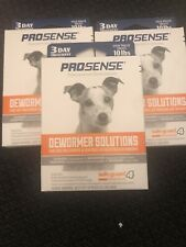 """New listing Prosense Dewormer Solutions """" Lot Of 3� 3 Day Treatment Each Exp 6/22"""