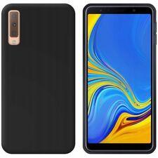 JELLY CASE MATT Handy Schale TPU Hülle Back Tasche Etui Samsung A7 2018 SCHWARZ
