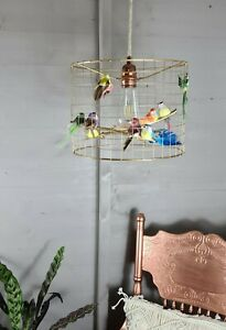 Gold Wire Birdcage Cage Shade Chandelier Light Jungle Bird Lightshade Parrot