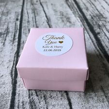 Pink Rose Gold Foil Personalized Gift Labels Wedding Thank You Favour Stickers