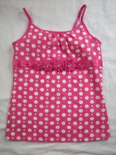 Girl size 12 Pink White Polka Dot Tank Top JUSTICE Summer Fall Back to School