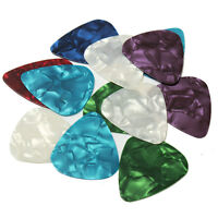 Nice 10 Pcs Thin Durable 0.46mm Celluloid Guitar Picks Plectrums Assorted Colors