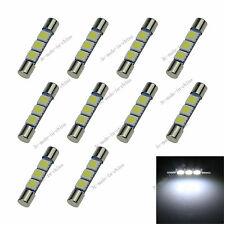 10X White 3-SMD 6641 LED Bulb For Car Sun Visor Vanity Mirror Fuse Lights N401