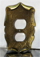 Vintage Amerock Carriage House Double Outlet Wall Cover Plate, 9082-1, Gold
