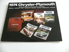 Brochure CHRYSLER PLYMOUTH 1974 en anglais