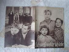 Filmprogramm DNFP Ich weiß wofür ich lebe L. Ullrich R.Freiytag L. Dagover 50er