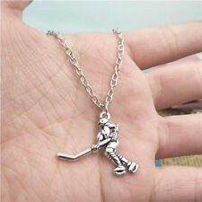 hockey player silver Necklace pendants fashion accessory,creative jewelry,Gift