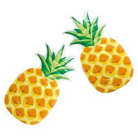 """Intex 85"""" x 49"""" Giant Inflatable 1 Person Pineapple Swimming Pool Float (2 Pack)"""