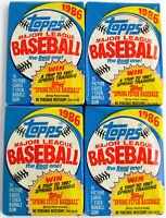 1986 TOPPS BASEBALL CARDS WAX PACKS; 34+ YEARS OLD; 15 CARDS/PACK. ROOKIES! HOF!