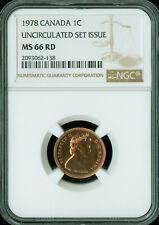 1978 CANADA CENT NGC MS-66 UNCIRCULTED SET SPOTLESS  *