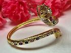 Thai Amulet Naga Eye Bracelet 9 Color Gems Gold Plated Lucky Talisman Charm K908