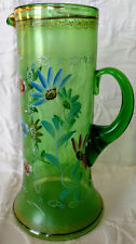 MOSER Brothers Tankard/Pitcher1890's blown, enameled & gilt+M & M!