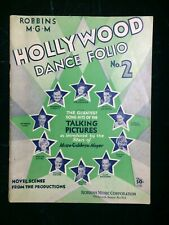 Hollywood Dance Folio #2 :: Antique / Vintage Sheet Music of Movie Songs :: 1930
